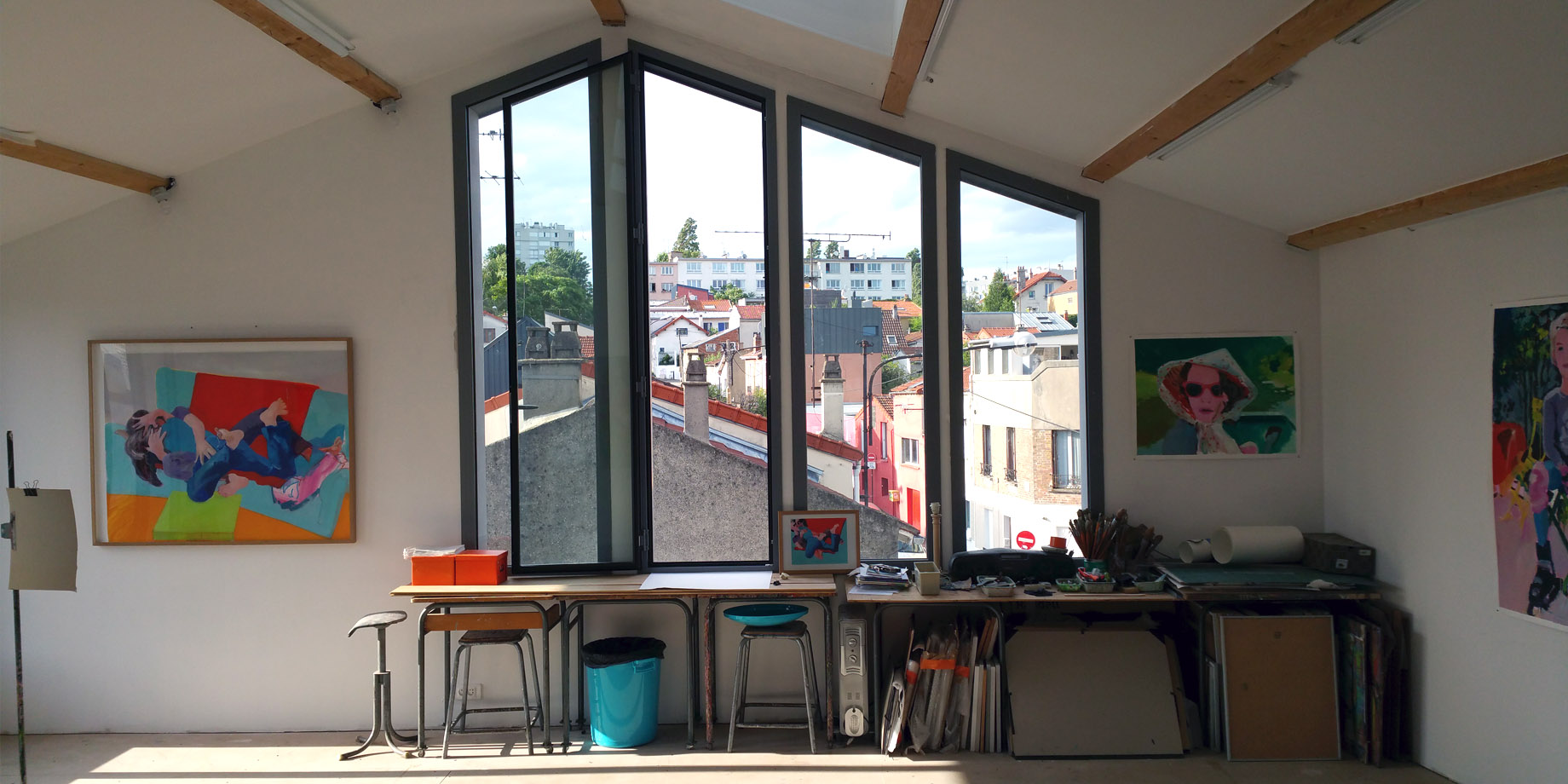 maskarade-architecture-surelevation-ossature-bois-atelier-peintre-interieure-vue