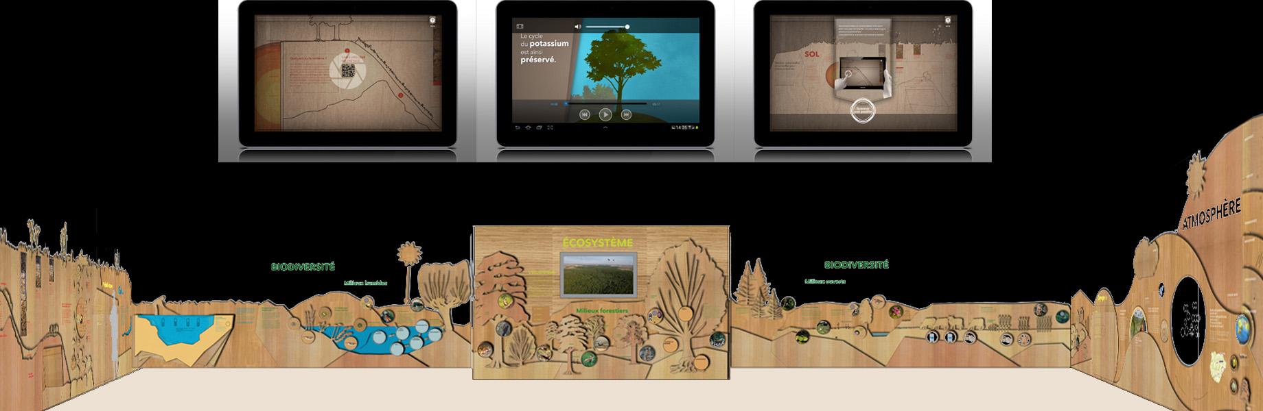 maskarade-scenographie-exposition-permanente-interactif-scientifique-animaux-tablettes